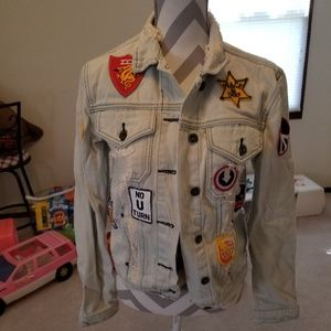 Awesome distressed jean jacket